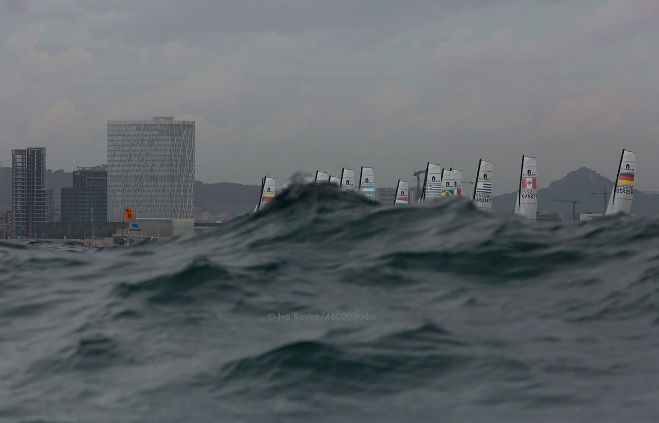 Nacra17 European Championship. Barcelona, October 2015.