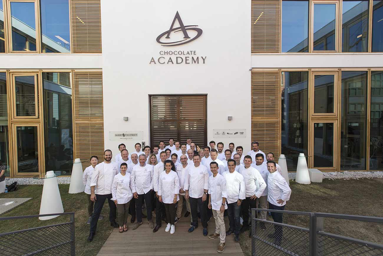 All Chefs at the Chocolate Academy Milano, during the Chefs Seminar 2017.