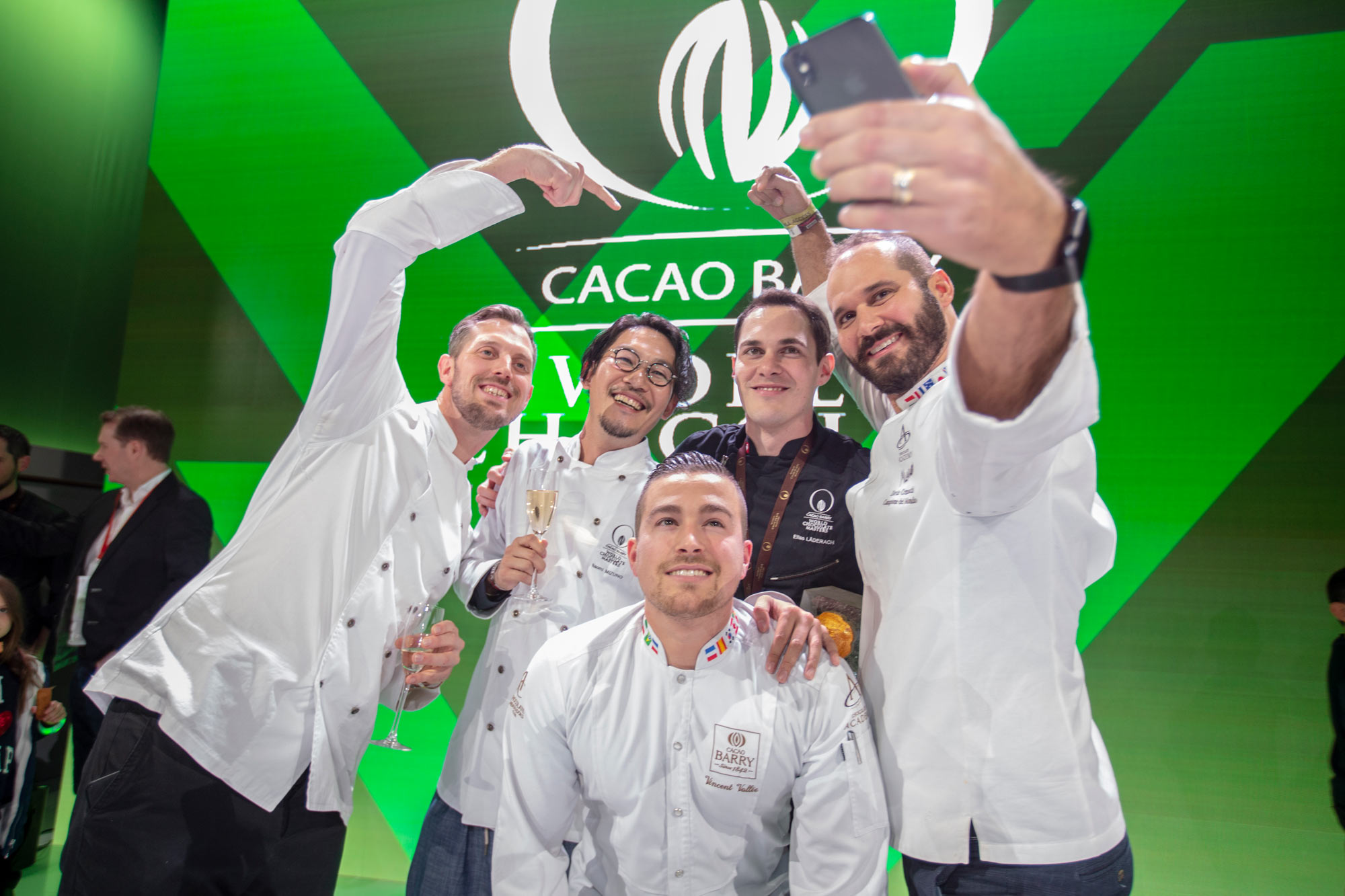 The last 5 winners of the World Chocolate Masters. 2018-Elías Läderach, 2015-Vincent Vallée, 2013 Davide Comaschi, 2011-Frank Haasnoot and 2007-Naomi Mizuno.