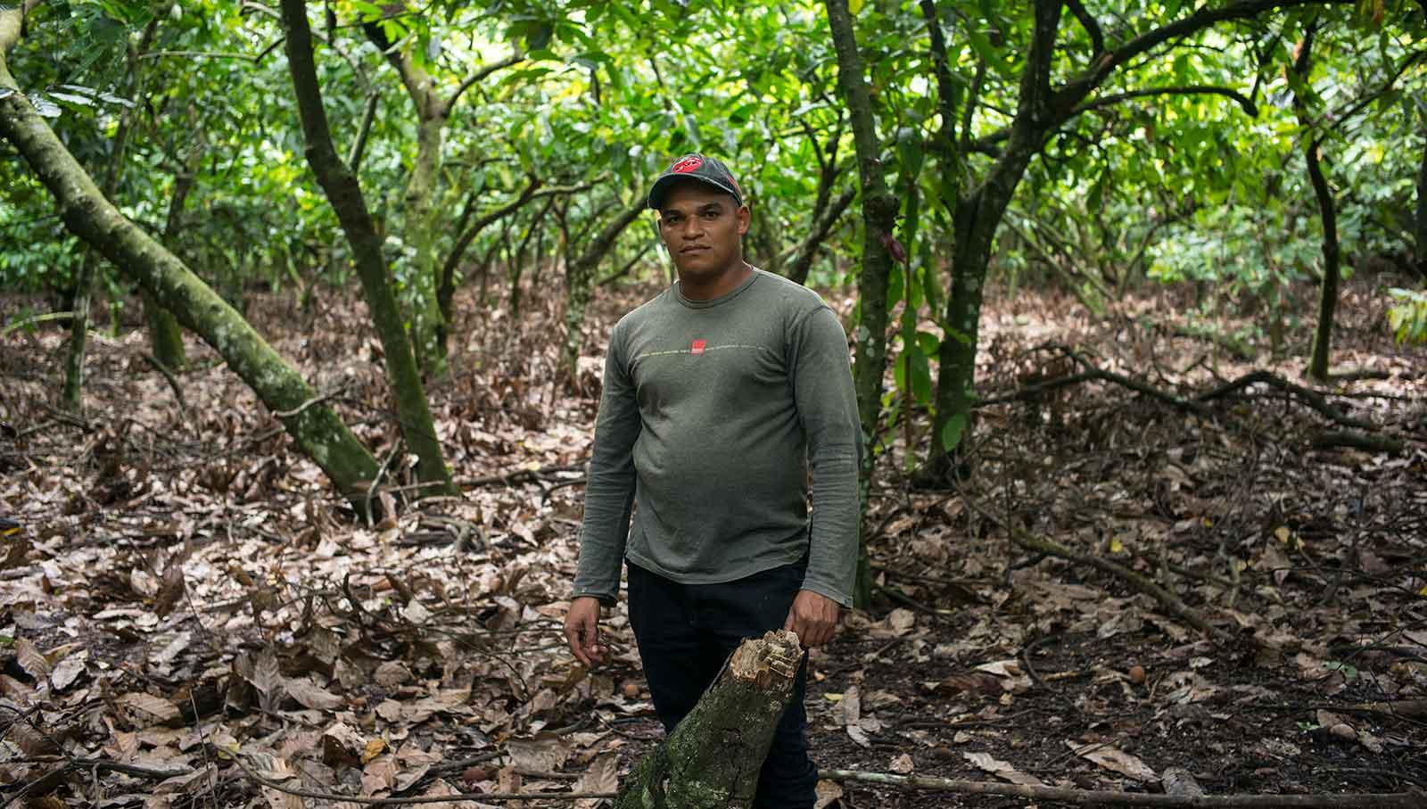 Campesino en la plantación